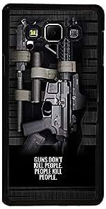 PrintVisa Case Covers for Samsung Galaxy A5 (D8141 Gun Quotes)