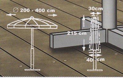 beo 980289 Schutzhüllen für Schirm 200-400 cm von beo auf Gartenmöbel von Du und Dein Garten