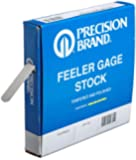 """Precision Brand Steel Thickness Feeler Gage Coil, Inch, 1/2"""" Width, 25' Length"""