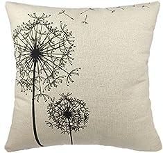 Come2buy - Morden Stylish Simplicity Dandelion Floral quotAs You Wishquot Cotton Linen Sofa Couch Ch