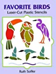 Favorite Birds Laser-Cut Plastic Sten...