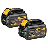 DEWALT DCB606-2 20V MAX 6.0Ah Lithium Ion Premium Battery, 2 Pack (Renewed) (Tamaño: 2 Pack)