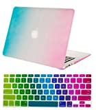 "Mosiso® Rainbow 2-in-1 AIR 13-inch Rubberized Hard Case Cover for Apple MacBook Air 13.3"" (Models: A1369 and A1466) (Rainbow)"