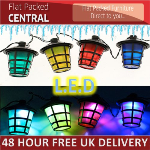 New 40 White Led Bulbs With 40 Multicoloured Lanterns Christmas Lighting Party Decorations Shade Indoor Outdoor