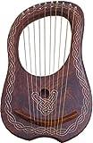NEU Lyra Harfe 10Saiten Rose Holz