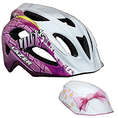 Lazer Nutz 2014 Helmet in Street Girl with Free Fireman Crazy Nutshell Uni-size Youth, Street Girl Limited Edition from Lazer