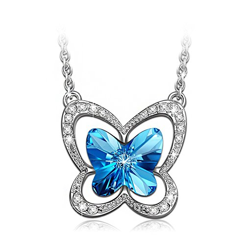 LadyColour-Blue-Butterfly-Pendant-Necklace-For-Girls-and-Women-Made-with-Swarovski-Crystals