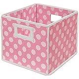 Badger Basket Polka Dot Folding Basket - Set of 2