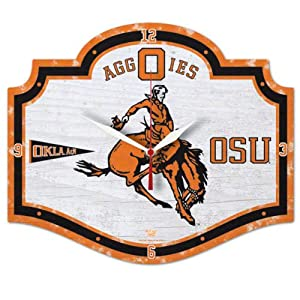 Buy NCAA College Vault Oklahoma State Cowboys High Definition Clock by WinCraft