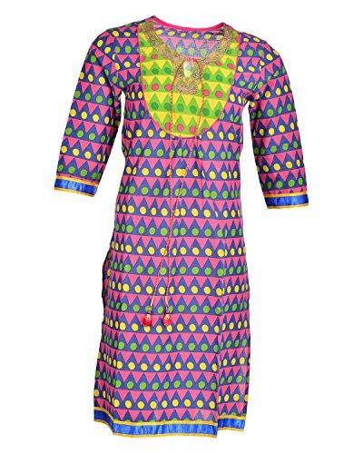 Global Women's Cotton Straight Kurta (GW21REDXL015, Red, XL)