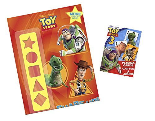 Disney Toy Story Gift Set - Shape up Activity Book and Bicycle Playing Cards