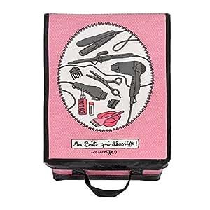 Boite pour accessoires cheveux-Qui Décoiffe -Rose-DLP-Derrière la Porte