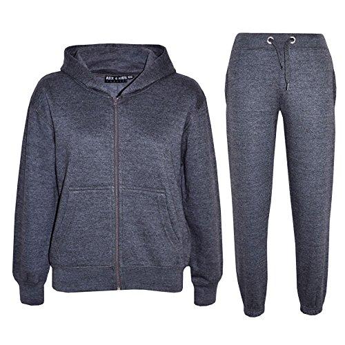 kids-girls-boys-plain-tracksuit-hooded-hoodie-bottom-jog-suit-joggers-new-age-7-8-9-10-11-12-13-year