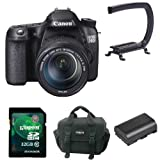 Canon 70D with 18-135mm  IS STM & Microphone, 32GB Card and Case - Video Kit