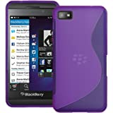 Purple S Curve XYLO-GEL Skin / Case / Cover for the BlackBerry Z10 Mobile Phone.