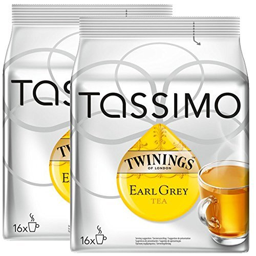 Buy Bosch Tassimo 'Twinings Earl Grey Tea' 16 T Disc Coffee Machine Capsules (Pack of 2) from Bosch