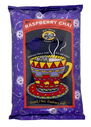 Big Train Raspberry Chai Latte, Two 3.5lb. Bags + Storage Tub (Big Train Raspberry Chai compare prices)