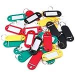 30 Coloured Plastic Key Fobs Luggage...