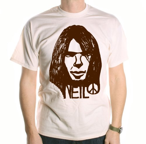 A Tribute To Neil Young T-Shirt - Neil Peace Sketch ungefŠrbt xl