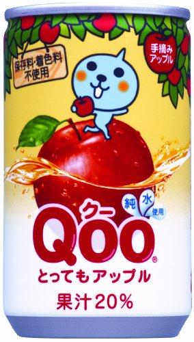 (お徳用ボックス) Qoo (クー) アップル160ml缶×30本