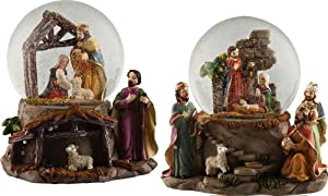 Christmas Nativity Musical Waterglove (Set of 2)