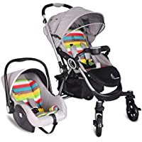 R for Rabbit Travel System - Chocolate Ride - Baby Stroller/Pram + Infant Car seat