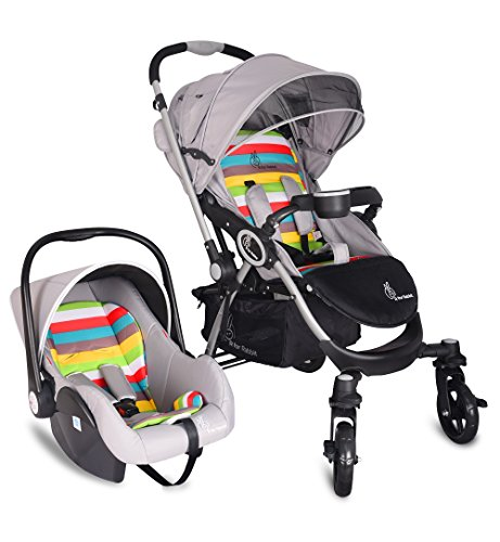 R for Rabbit Travel System – Chocolate Ride – Baby Stroller/Pram + Infant Car seat