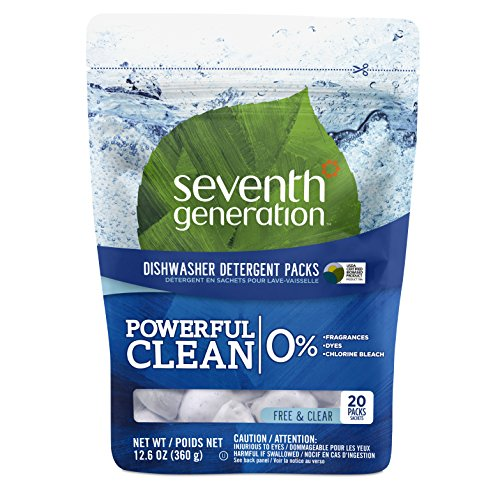 Seventh Generation Natural Dishwasher Detergent Packs, Free and Clear, 20ct, Packaging May Vary (Nice Dishwasher Packs compare prices)
