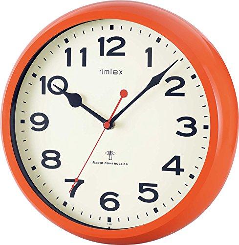 NOA モーメンタム 電波掛け時計 オレンジ W-636 OR