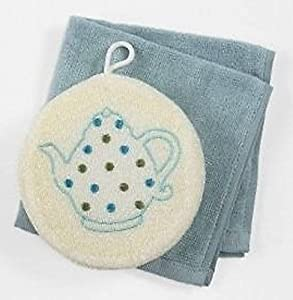 Paula Deen Dishwasher Cloth and Scrubber Set