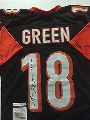 Autographed/Signed AJ A.J. Green Cincinnati Bengals Black Football Jersey JSA COA