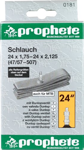Fahrradschlauch 24x1,75-24x2,125 24 x 2,125, Dunlopventil