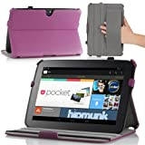 MoKo Slim-Fit Multi-angle Folio Cover Case for Google Nexus 10 Android Tablet by Samsung, PURPLE (with Smart Cover Auto Wake/Sleep Feature)