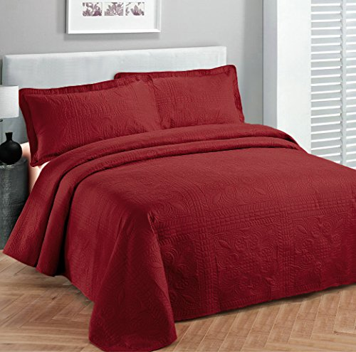 Fancy Collection 3pc Luxury Bedspread Coverlet Embossed