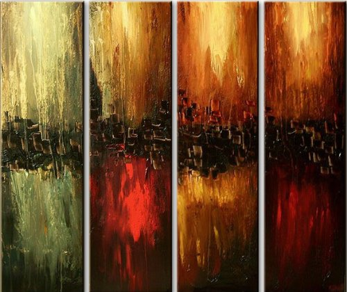 Santin Art Hand Made Oil Painting The Four Elements Modern Canvas Art Wall Decor Abstract Oil Painting Wall Art Decorations On Canvas Home Decor