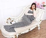 renoliss hecha a mano Cola de sirena manta de punto, manta de sofá cama salón manta de sirena para niños y adultos, 180cmX90cm y # xFF08; 73.49pulgadas x35.4pulgadas)