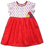 Campana Girls' Dress (CK1262_Red_4-5 Years)