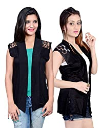 sweekash women's Net shrug (Combo pack of 2)
