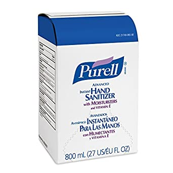 PURELL 9656-06 Original Instant Hand Sanitizer, 800 mL Bag-In-Box Refill (Case of 6)