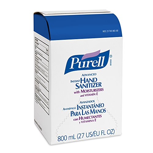 PURELL 965606CT Instant Hand Sanitizer Refill Bag-In-Box, 800mL (Case of 6),Clear (Purell Dispenser Refill compare prices)
