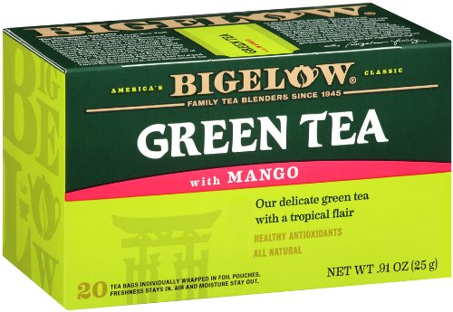 Bigelow Green Tea With Mango, 20-Count Boxes (Pack Of 6) front-358025