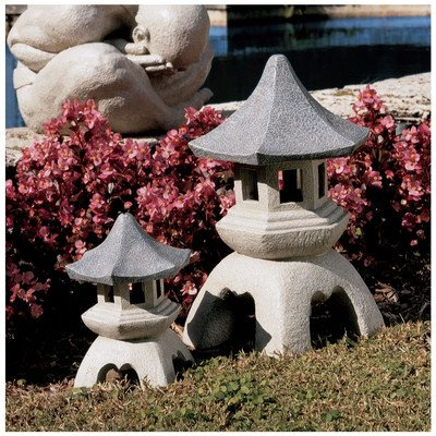 Design Toscano NG999870 Pagoda Lantern Sculptures Medium and Large Set picture