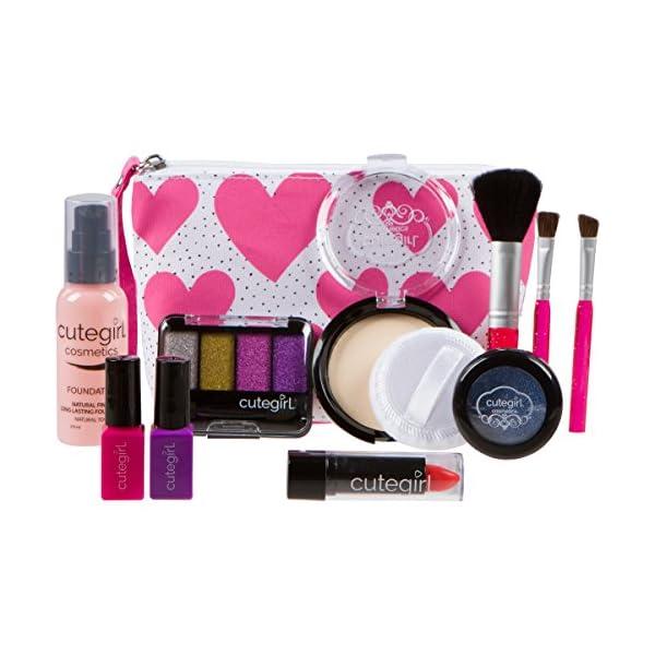 Cutegirl Cosmetics Pretend Play Makeup Kit Designer Girls Hearts