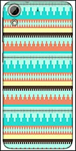 Snoogg Aztec Pattern Temple Designer Protective Back Case Cover For HTC Desire 626