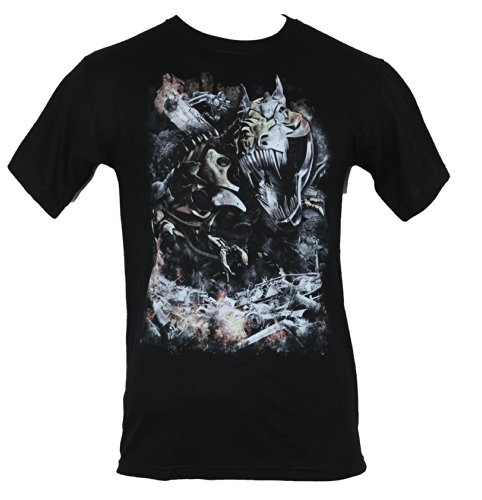 Transformers Mens T-Shirt - Movie Style Grimlock Wreacking Havoc Image