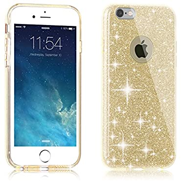 Urberry Iphone 6 Soft Case, Iphone 6s Sparkling Glitter Cover, Light Weight Shinning Case for 4.7 Iphone 6/6s, with a Screen Protector