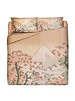 JAPAN MANIA by MANIFATTURE COTONIERE Juego De Funda Nórdica Fuji (Maquillaje/Multicolor)