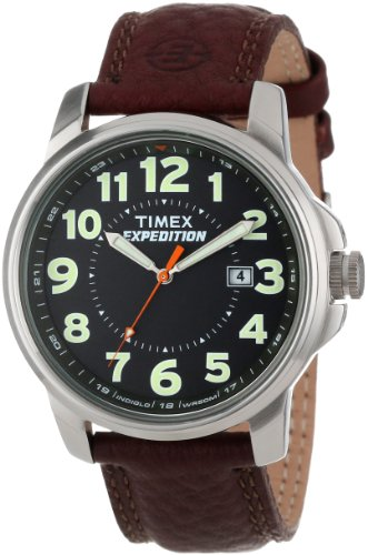 """Timex Men'S T44921 """"Expedition"""" Brass Watch With Brown Leather Strap"""