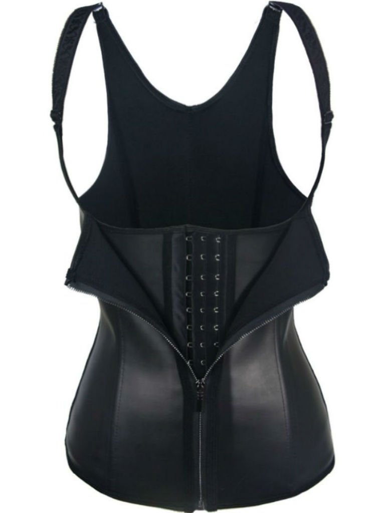 iszeyu womens waist trainer vest with zipper and hooks
