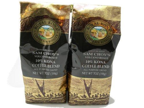 Royal Kona Coffee Sam Choy'S Signature Series Volcano Roast - Value Twin Pack (All Purpose Grind) - 14 Oz